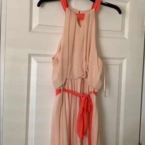 Peach and coral dress